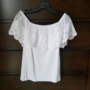 Ralph Lauren off the shoulder crochet top